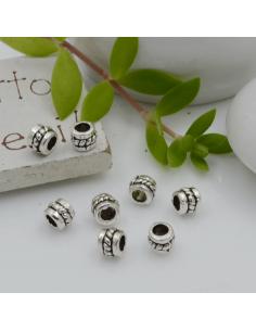 Distanziatori Perline con fantasia 4.6 x 4 mm 25 pz in metallo per bigiotteria per le tue creazioni!