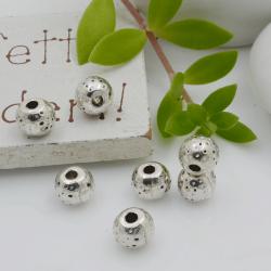 Distanziatori Perline con fantasia 6 x 5 mm 10 pz in metallo per bigiotteria per le tue creazioni!
