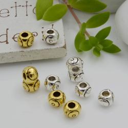 Distanziatori Perline tondo con fantasia 5 mm 18 pz in metallo per bigiotteria per le tue creazioni!