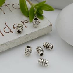 Distanziatori Perline con fantasia a forma di cilindro 5 x 3 mm 52 pz in metallo per bigiotteria per le tue creazioni!