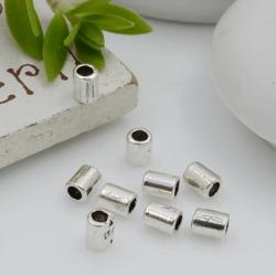 Distanziatori Perline liscio a forma di cilindro 4 x 3 mm 50 pz in metallo per bigiotteria per le tue creazioni!