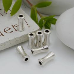 Distanziatori Perline liscio a forma di cilindro 8 x 4 mm 20 pz in metallo per bigiotteria per le tue creazioni!