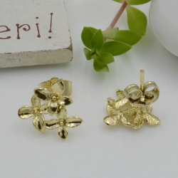 base orecchini con perni in zama a forma di fiore 13 mm gancio per ciondoli per fai da te i tuoi orecchini alla moda!!!