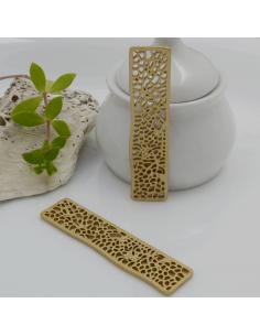 ciondolo in zama rettangolare traforato 54 x 15.5 mm pz 2 per i tuoi gioielli alla moda
