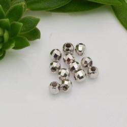 pallina in argento 925 sfaccettata 4 mm Perle distanziatori 20 pz per le tue creazioni