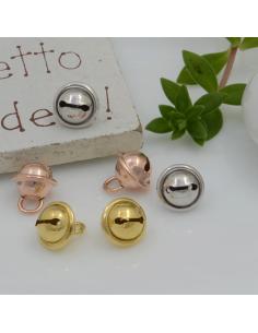 Ciondolo Charms Campanellino  Argento 925 rodiato 8 mm per decorare le tuo gioielli Made in Italy