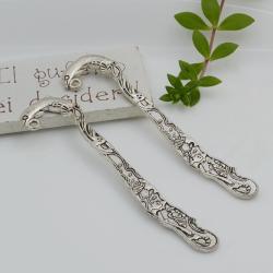 Segnalibri 2 pezzi in metallo con delfino 58 x 19.5 mm per un'idea regalo da personalizzare