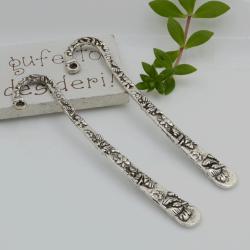 Segnalibri 2 pezzi in metallo con fantasia 81 x 17 mm per un'idea regalo da personalizzare