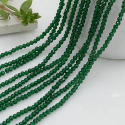 Fili di zirconi piccolissima rotonda 2 mm col verde taglio brillante e sfaccettata circa 200 pz 36 cm