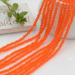 Fili di zirconi piccolissima rotonda 2 mm col arancione taglio brillante e sfaccettata circa 200 pz 36 cm