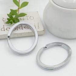 Anelli Brisè ovale per Portachiavi FILO PIATTO DOPPIO 36 x 28 mm 2 pz per ciondolo per tue creazioni