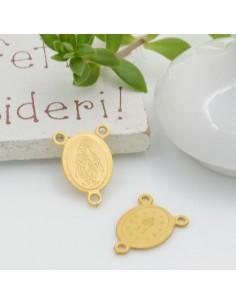 CIONDOLI a forma di crociera medaglia miracolosa con 3 fori 14.5 x 10.5 mm per bigiotteria per le tue creazioni !!!