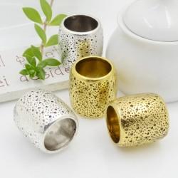 Tubo forma cilindrica con fantasia 22 mm con foro largo 16 mm pz 1 per le tue creazioni!!!