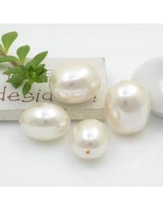 perle di madreperla forma ovale liscio idea per collana bracciale e orecchini fai da te