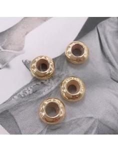 chiusura a pallina gomma siliconica 8 mm foro 3.5mm per bracciale in ottone 2 pz per tuoi gioielli