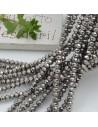 Filo cristallo Rondelle colore ematite 2.5 x 3.5 mm briolette 125 a 145pz per le tue creazioni n 72