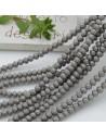 Filo cristallo Rondelle grigio opaco 2.5 x 3.5 mm briolette 125 a 145pz per le tue creazioni n 71