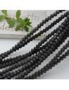 Filo cristallo Rondelle nero opaco 2.5 x 3.5 mm briolette 125 a 145pz per le tue creazioni n 70