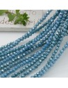 Filo cristallo Rondelle tiffany scuro 2.5 x 3.5 mm briolette 125 a 145pz per le tue creazioni n 53