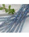 Filo cristallo Rondelle blu trasparente AB 2.5 x 3.5 mm briolette 125 a 145pz per le tue creazioni n 50