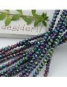 Filo cristallo Rondelle metallic 2.5 x 3.5 mm briolette 125 a 145pz per le tue creazioni n 34