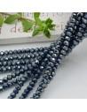 Filo cristallo Rondelle petrolio scuro 2.5 x 3.5 mm briolette 125 a 145pz per le tue creazioni n 30