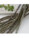 Filo cristallo Rondelle verde marrone AB 2.5 x 3.5 mm briolette 125 a 145pz per le tue creazioni n 15
