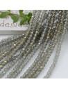 Filo cristallo Rondelle verde 2.5 x 3.5 mm briolette 125 a 145pz per le tue creazioni n 11