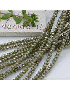 Filo cristallo Rondelle verde 2.5 x 3.5 mm briolette 125 a 145pz per le tue creazioni n 10