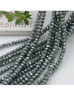 Filo cristallo Rondelle verde 2.5 x 3.5 mm briolette 125 a 145pz per le tue creazioni n 9