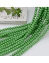 Filo cristallo Rondelle verde 2.5 x 3.5 mm briolette 125 a 145pz per le tue creazioni n 2