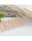 catena rosario con cristalli 3 x 4 mm 50 CM base oro in acciaio colore opale rosa per le tue creazioni !!!