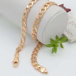 Collana CATENA GOURMETTE PLACCATO IN ORO 50 cm larghezza 8 mm in rame ottima qualità per le tue creazioni