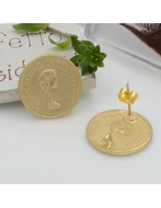 Base Orecchini a perno in zama a forma di medaglia 19 mm gancio per ciondoli fai da te per orecchini alla moda!!!