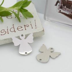 Connettori in acciaio inossidabile colore argento a forma di angelo 15 mm per le tue creazioni!!!