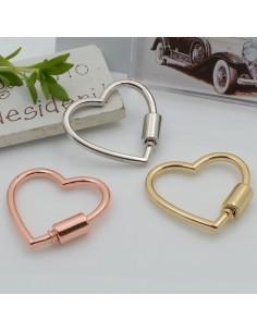 Chiusura a vite a forma di cuore in ottone 30 mm 1 pz per collane e bracciali per le tue creazioni!!!