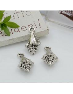 Ciondoli Charms pendente a forma di conchiglia 11 x 21 mm 4pz per le tue creazioni!!!