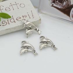 Ciondoli Charms pendente a forma di delfini 19 x 12 mm 10 pz per le tue creazioni!!!