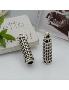 Ciondoli Charms pendente a forma di torre di Pisa 25 x 7 mm 3 pz per le tue creazioni!!!