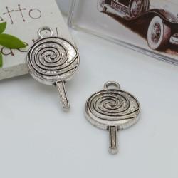 Ciondoli Charms pendente a forma di lecca-lecca 16 x 30 mm 3 pz per le tue creazioni!!!