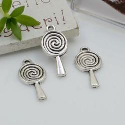 Ciondoli Charms pendente a forma di lecca-lecca 10 x 23 mm 6 pz per le tue creazioni!!!