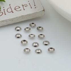Copri perla perline lisci a coppetta varie misure in acciaio per le tue creazioni!!!