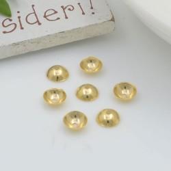Copri perla perline lisci a coppetta varie misure 10 pz in acciaio per le tue creazioni!!!