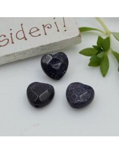 Pietre dure a forma di cuore pietra del sole blu sfaccettata 10 mm 2 pz per orecchini bracciali collana per le tue creazioni!!!