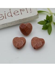 Pietre dure a forma di cuore pietra del sole sfaccettata 10 mm 2 pz per orecchini bracciali collana per le tue creazioni!!!