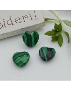 Pietre dure a forma di cuore malachite sfaccettata 10 mm 2 pz per orecchini bracciali collana per le tue creazioni!!!
