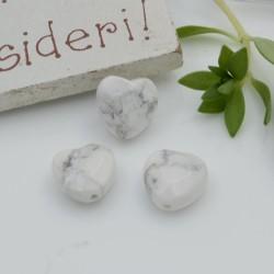 Pietre dure a forma di cuore aulite bianca sfaccettata 10 mm 2 pz per orecchini bracciali collana per le tue creazioni!!!