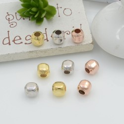 Distanziatore a forma di cubo liscio in argento 925 5 mm foro 2.5 mm 10 pz per le tue creazioni!!!