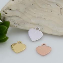 Ciondolo Charms cuore in Argento 925 rodiato 6 mm 1 pz per le tue creazioni fai da te!!!