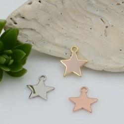 Ciondolo Charms stellina in Argento 925 rodiato 8 x 7 mm 1 pz per le tue creazioni fai da te!!!
